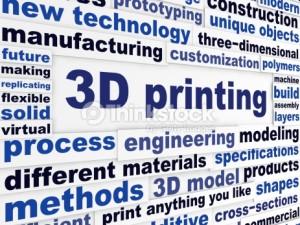 3d printing - words